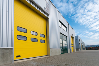 Commercial garage doors for storage units