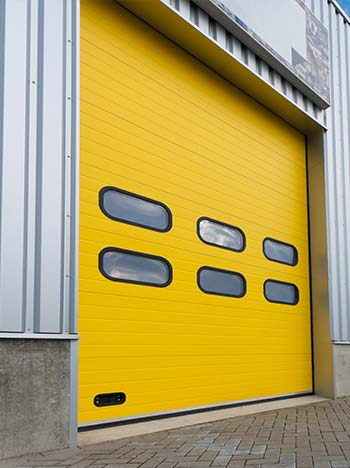 Industrial warehouse garage door